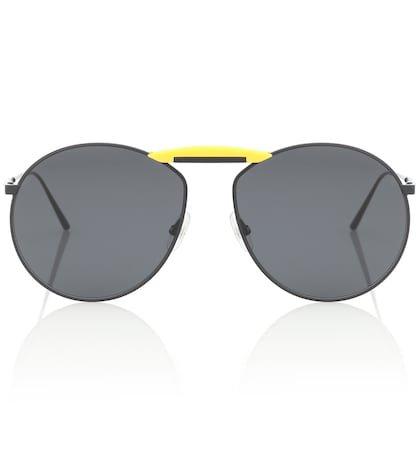 Gentle Fendi No. 2 round sunglasses
