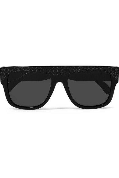 Alaïa   D-frame studded acetate sunglasses   NET-A-PORTER.COM