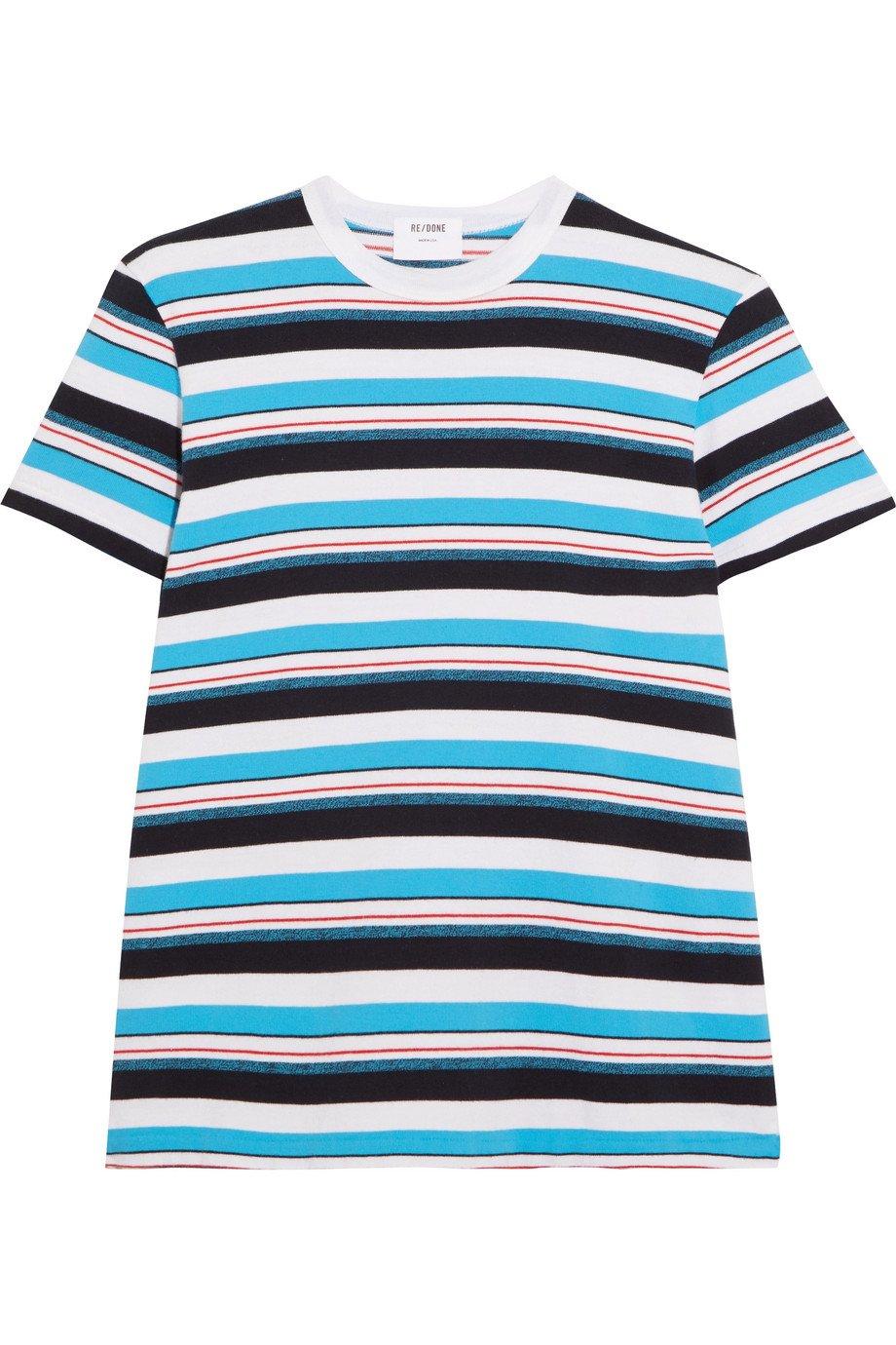 RE/DONE   Striped cotton-jersey T-shirt   NET-A-PORTER.COM