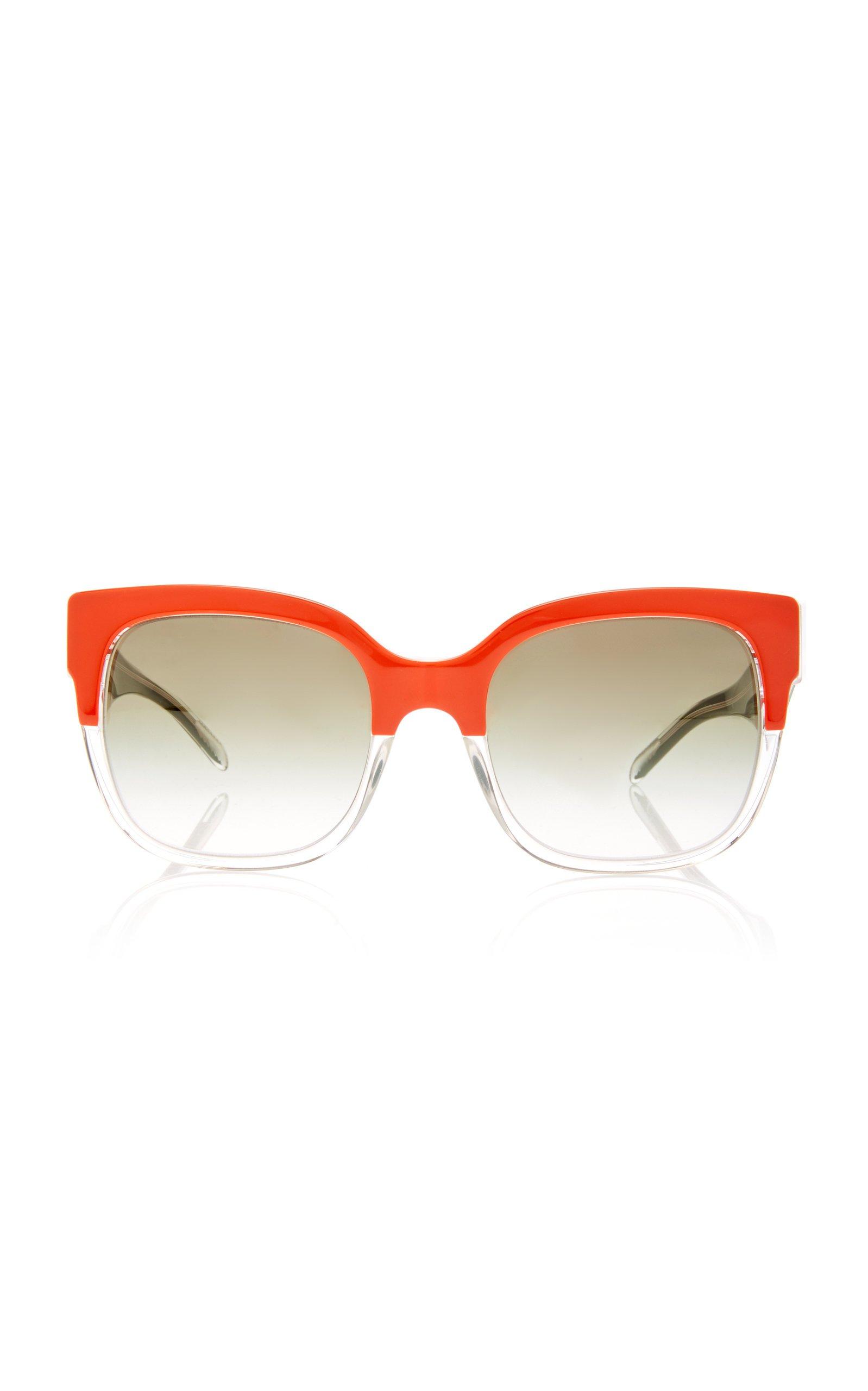 Burberry D-Frame Color-Block Acetate Sunglasses