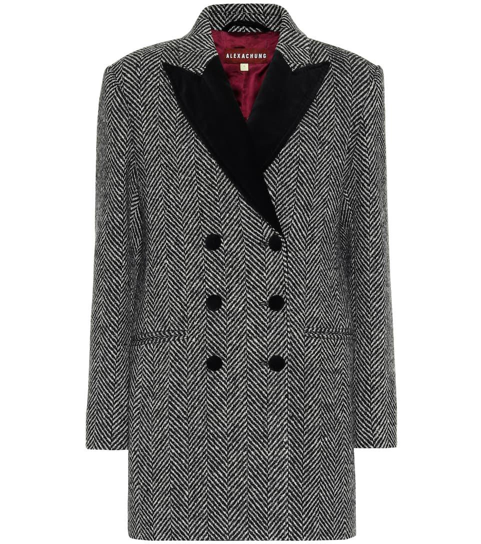 AlexaChung - Double-breasted wool jacket   Mytheresa