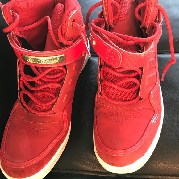 67% off adidas Shoes Red High Top Sneakers | Poshmark