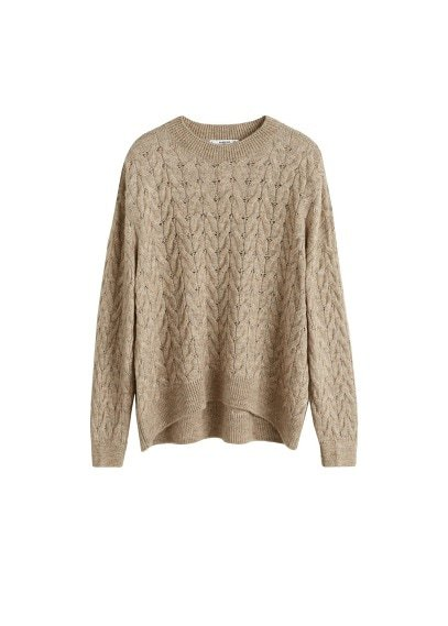 MANGO Knitted braided sweater