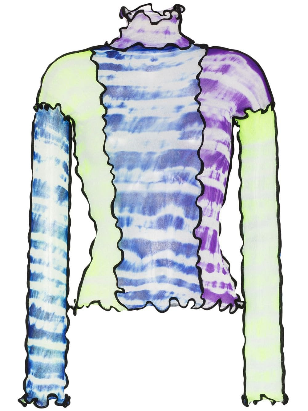 Asai panelled tie-dye top $341 - Buy Online AW19 - Quick Shipping, Price