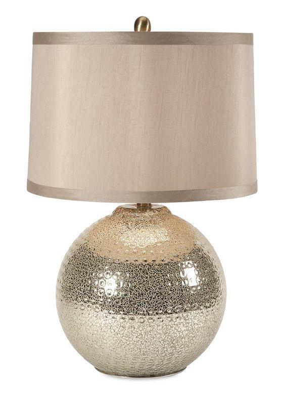 "House of Hampton Bridgeport Modern Mercury Glass 25"" Table Lamp & Reviews | Wayfair"