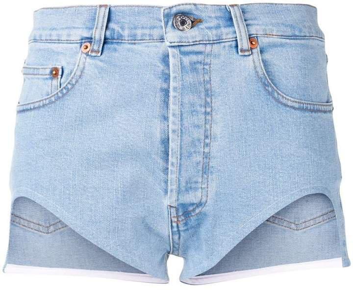 Forte Dei Marmi cut-out denim shorts