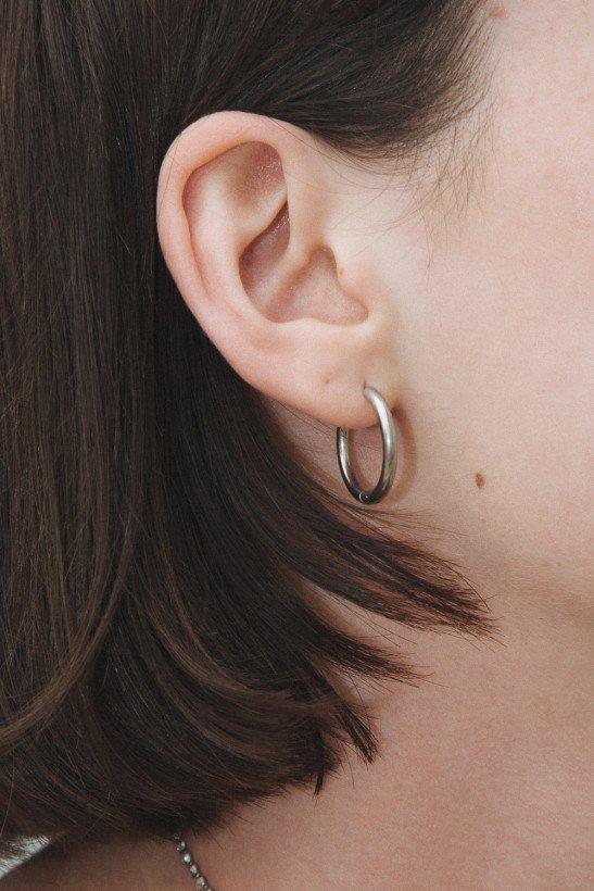 Silver Hoop Earrings - Accessories