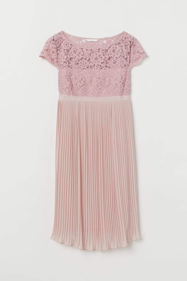MAMA Pleated Dress - Pink