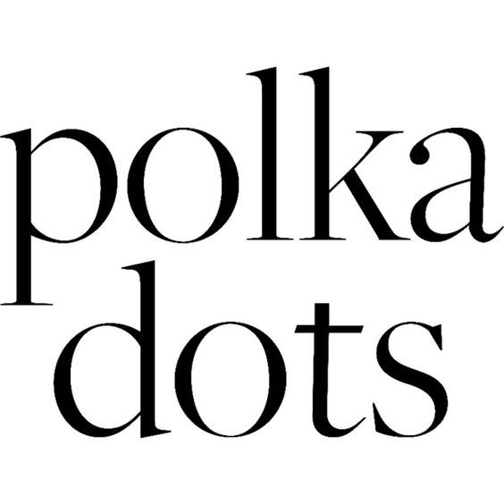 polka dots text