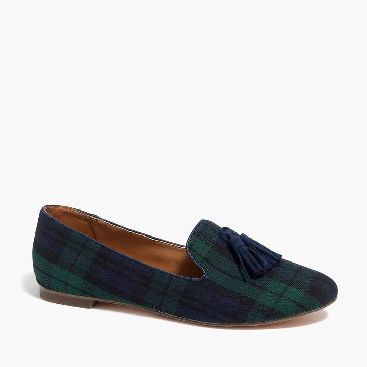 Cora loafers in plaid with tassels