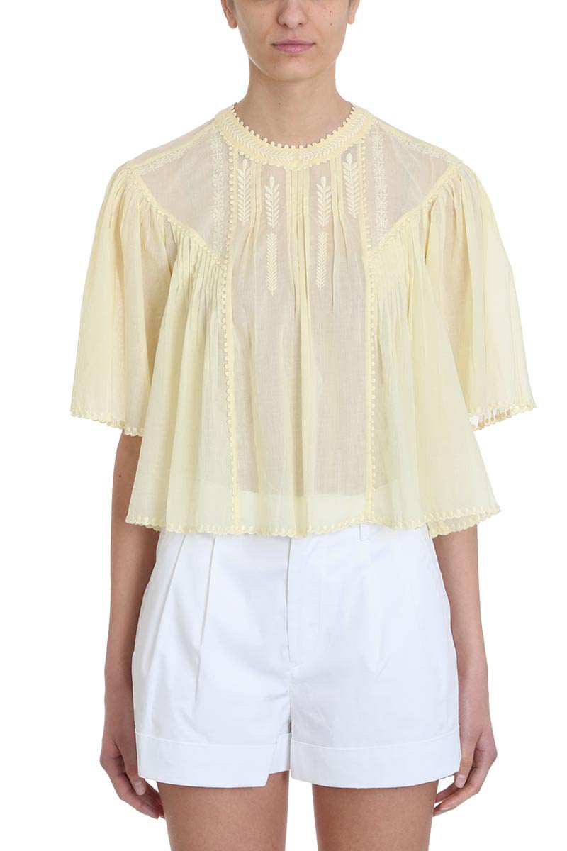 Isabel Marant Étoile Algar Yellow Cotton Blouse