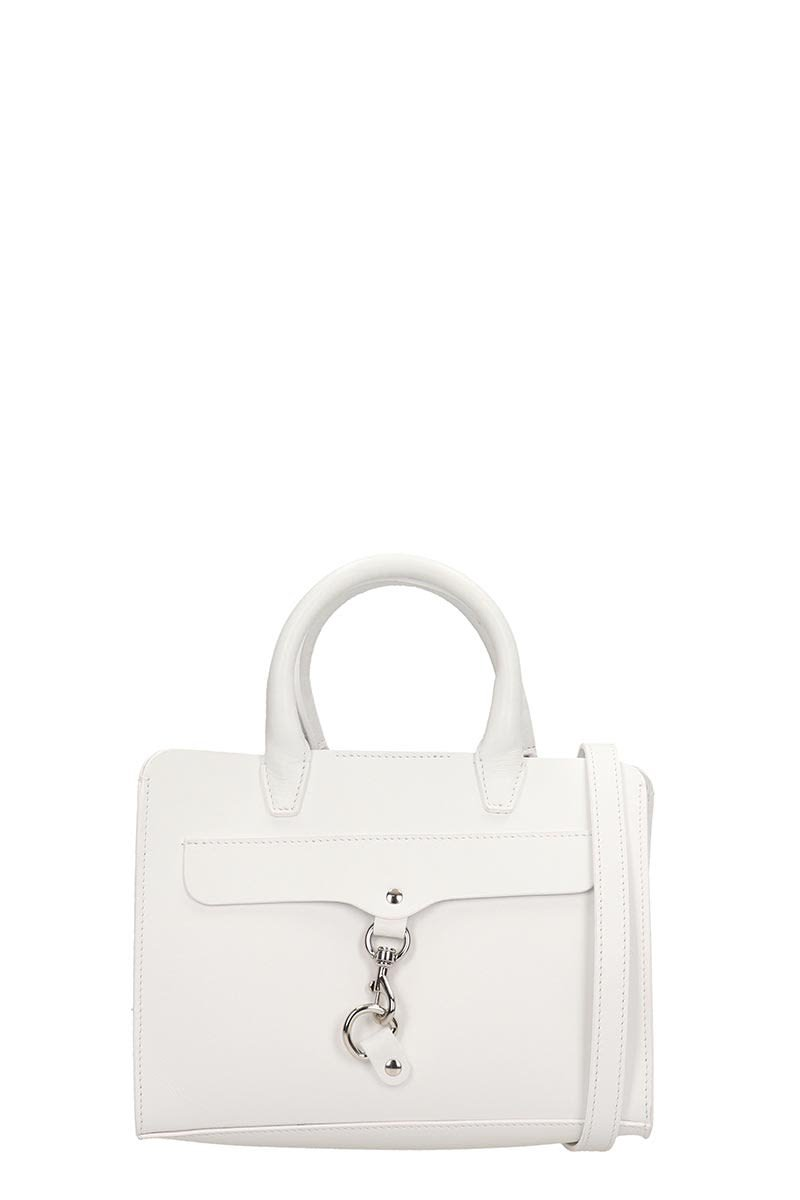 Rebecca Minkoff White Leather Mini Satchel Bag