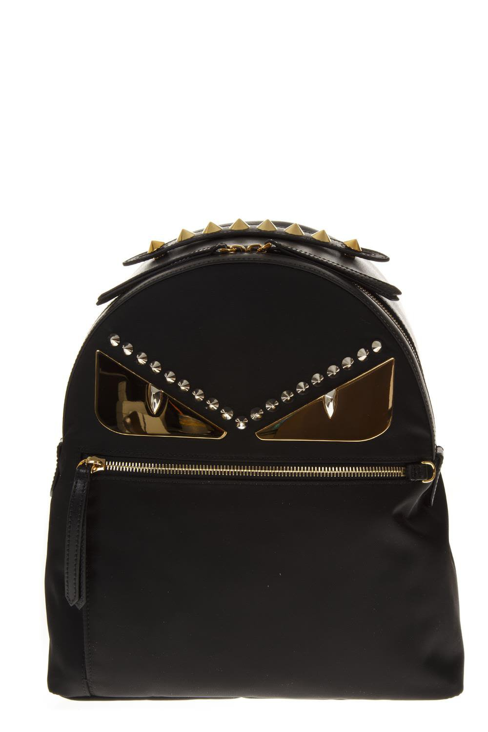 Fendi Black Backpack In Nylon And Leather
