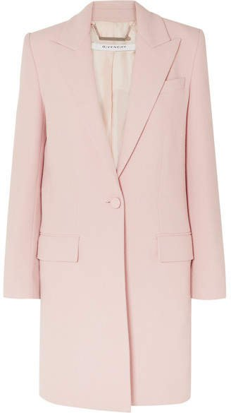Wool-crepe Coat - Pink