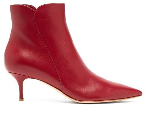 Levy 55 Leather Ankle Boots - Womens - Burgundy