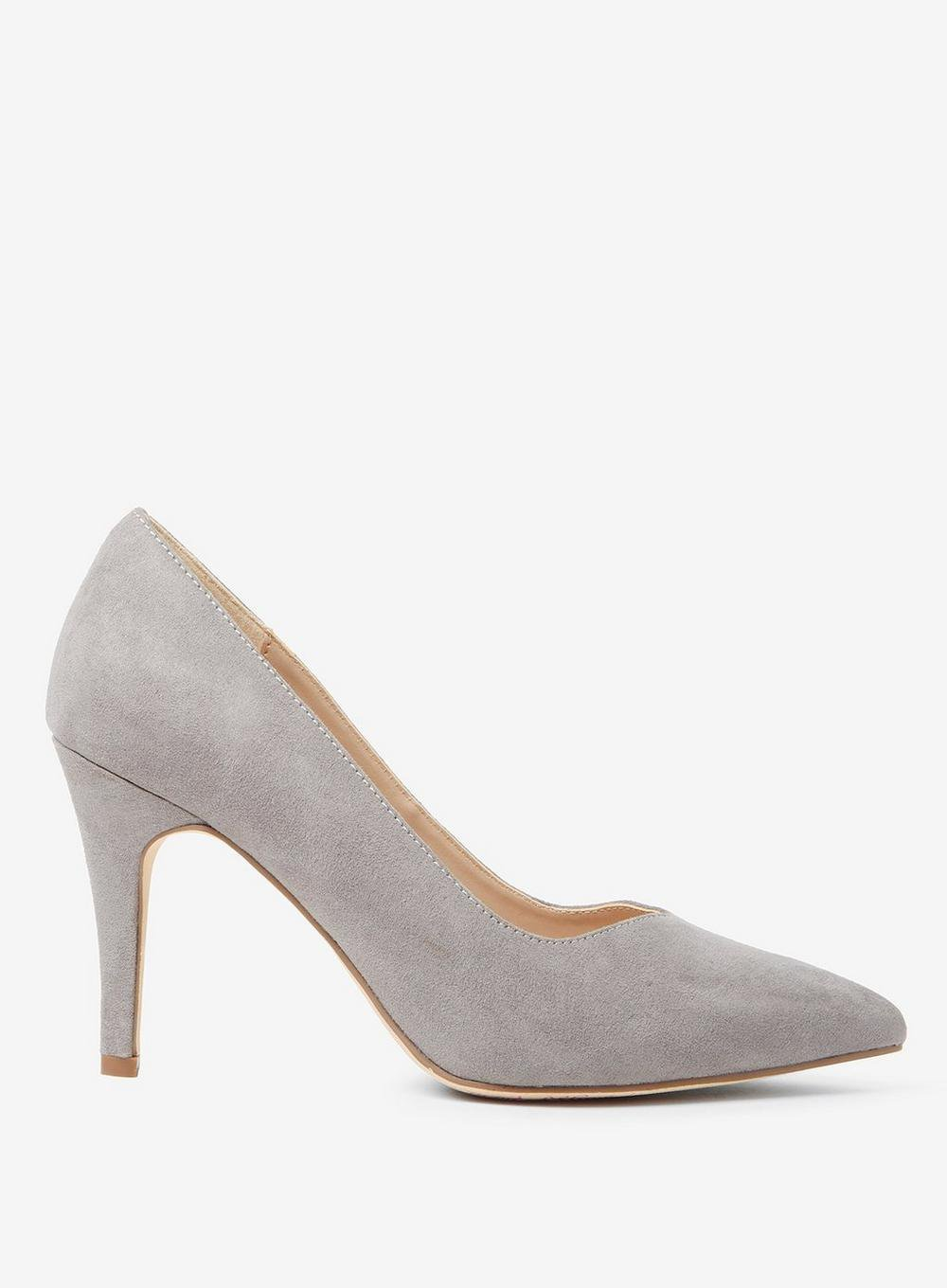 Wide Fit Grey Microfibre 'Drake' Court Shoes - View All New In - New In - Dorothy Perkins Europe