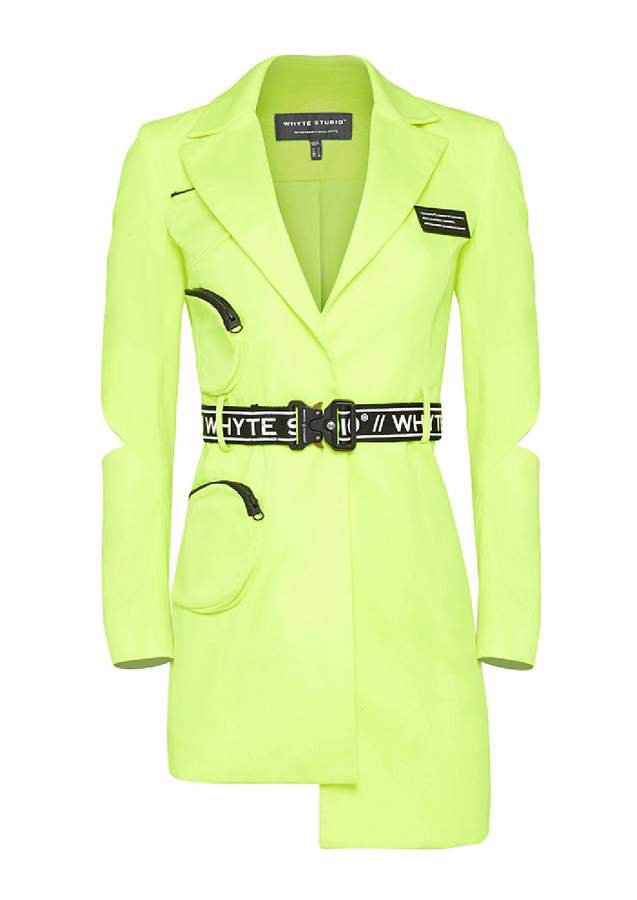 Whyte Studio - The Prix Blazer Dress Acid Lime