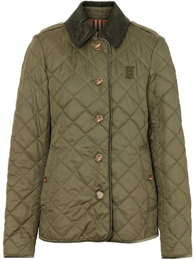 Monogram Motif Diamond Quilted Jacket