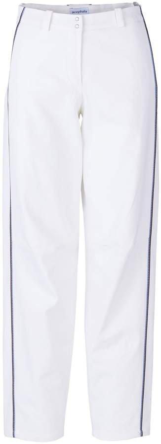 Acephala - Wide Leg Trousers White