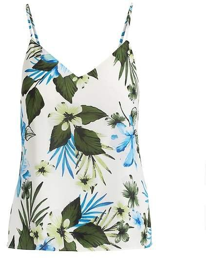 Tropical Print Strappy Camisole
