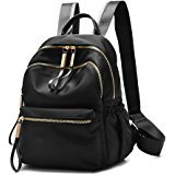 Amazon.com: UTO Fashion Backpack Oxford Waterproof Cloth Nylon Rucksack School College Bookbag Shoulder Purse Black: Clothing