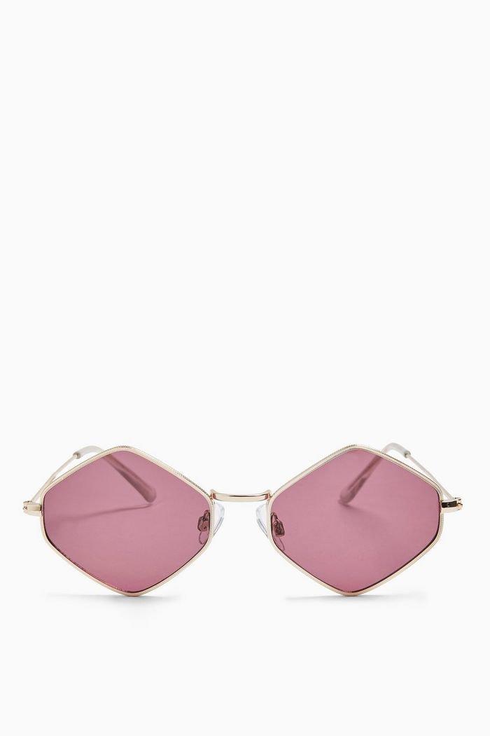 Metal Hexagonal Sunglasses | Topshop