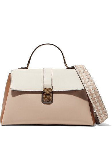 Bottega Veneta | Piazza large color-block leather tote | NET-A-PORTER.COM