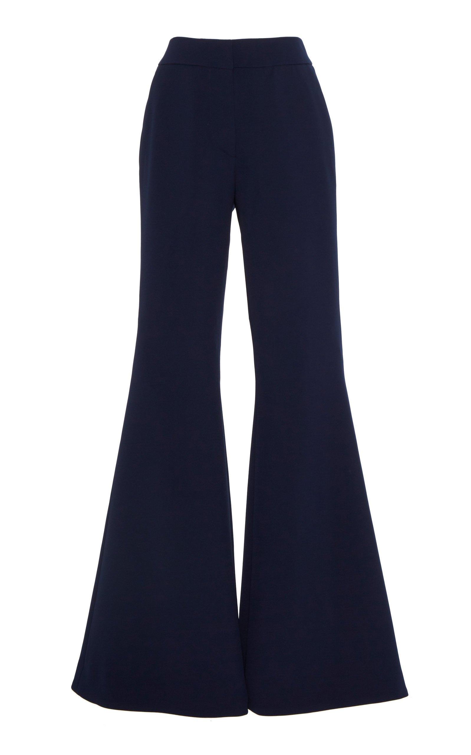 Saloni Ivy Crepe Flare-Leg Pants