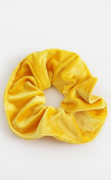 90s are back velvet scrunchie - yellow | D я є ѕ ѕ Т σ Ι м ρ я є ѕ ѕ. | Pinterest | Scrunchies, Clothes and Hair accessories
