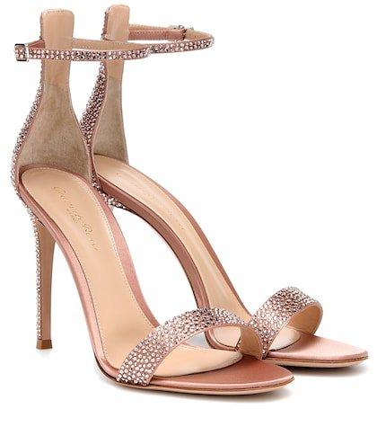Glam crystal-embellished sandals
