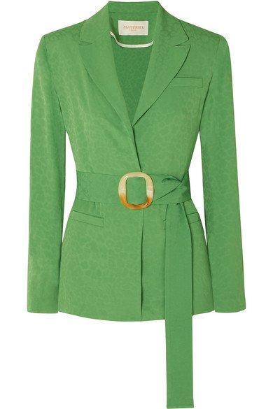 MATÉRIEL | Belted jacquard blazer | NET-A-PORTER.COM