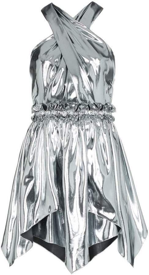 Kary metallic mini-dress