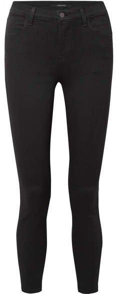 Alana Cropped High-rise Skinny Jeans - Black