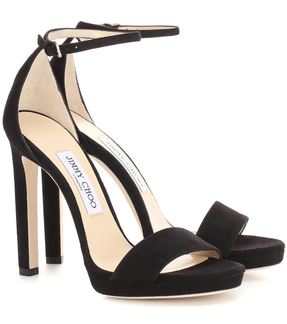 Jimmy Choo - Misty 120 suede sandals