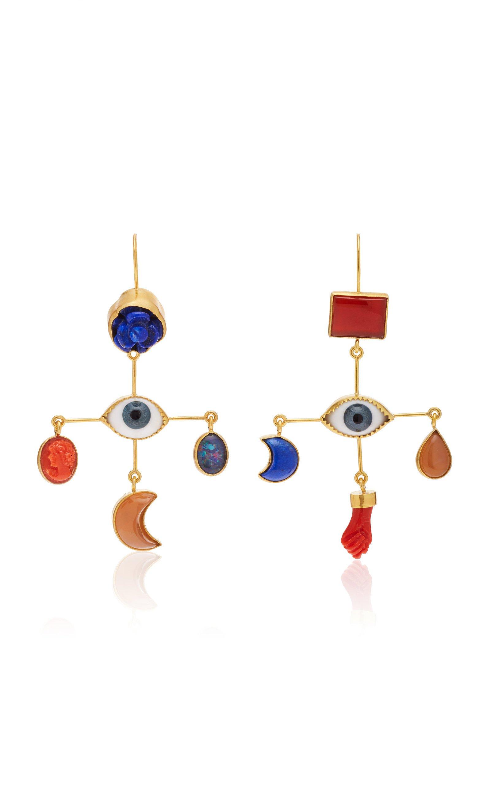 Grainne Morton Eye Cross Drop Earrings