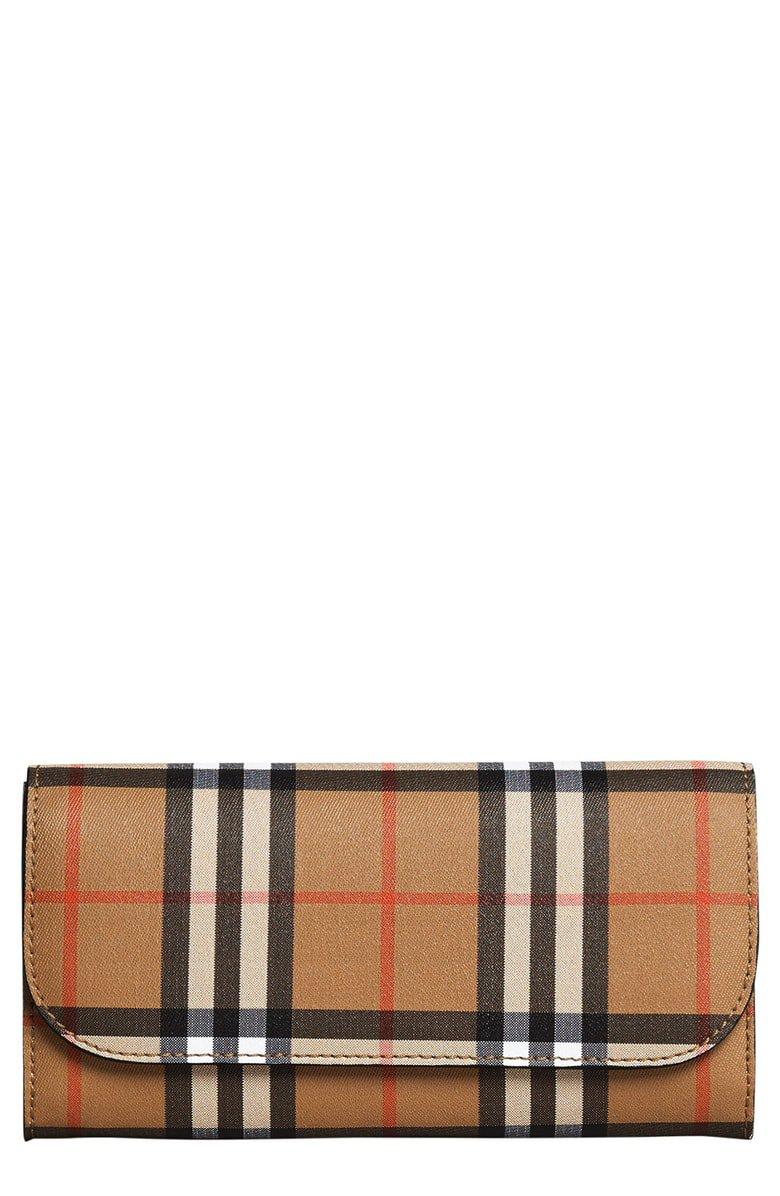 Burberry Halton Check Continental Wallet | Nordstrom