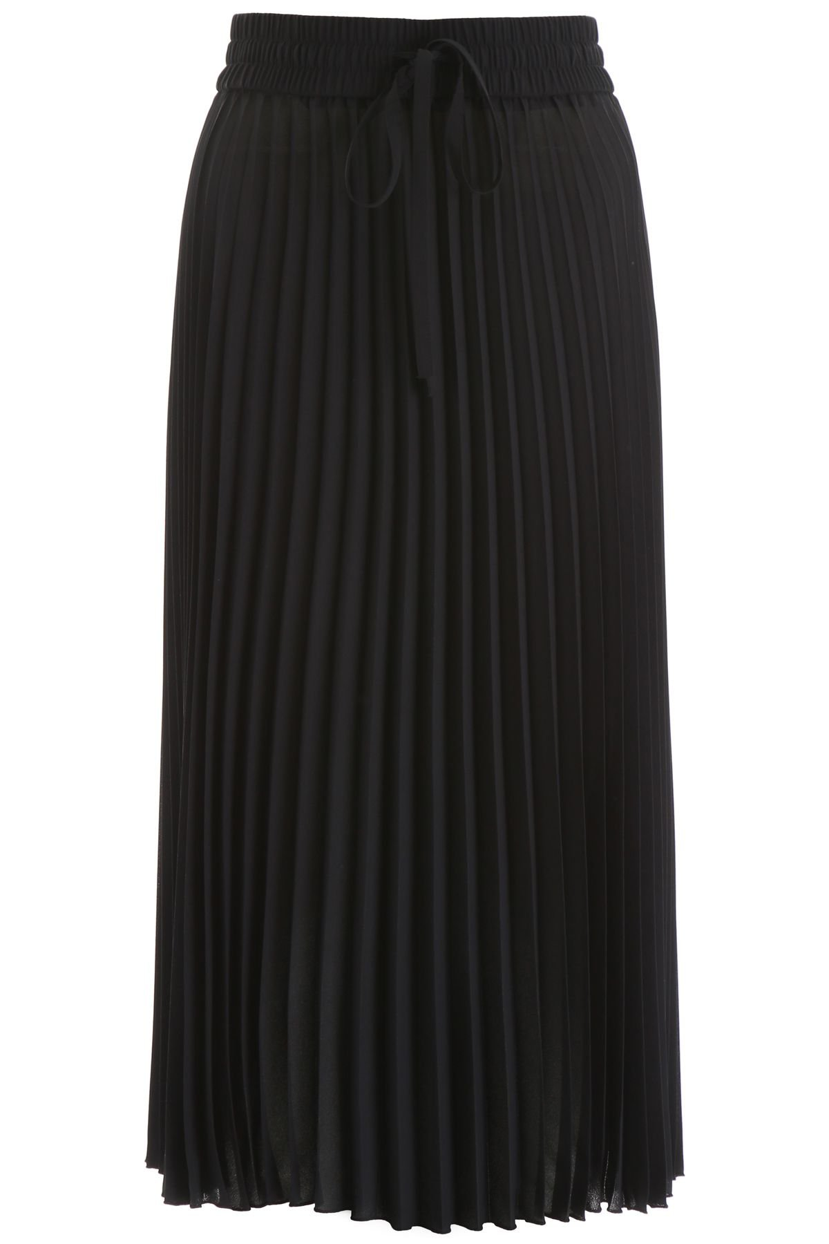 RED Valentino Pleated Midi Skirt