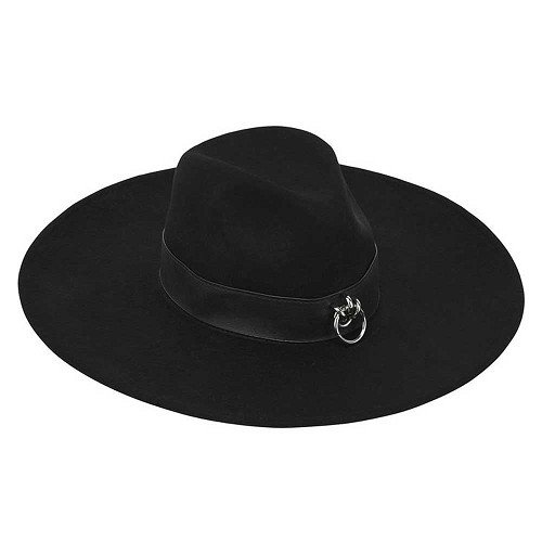 Maya Brimmed Black Hat - KILLSTAR