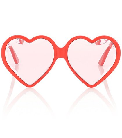 Heart-frame sunglasses