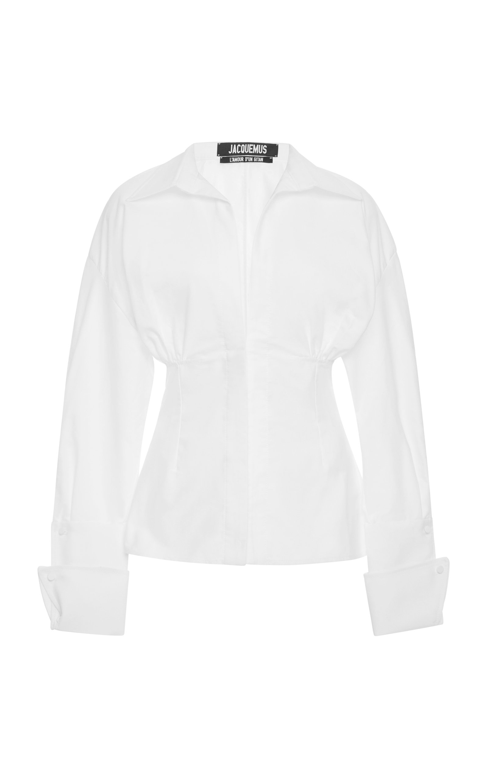 Jacquemus Puff Sleeve Cotton Shirt