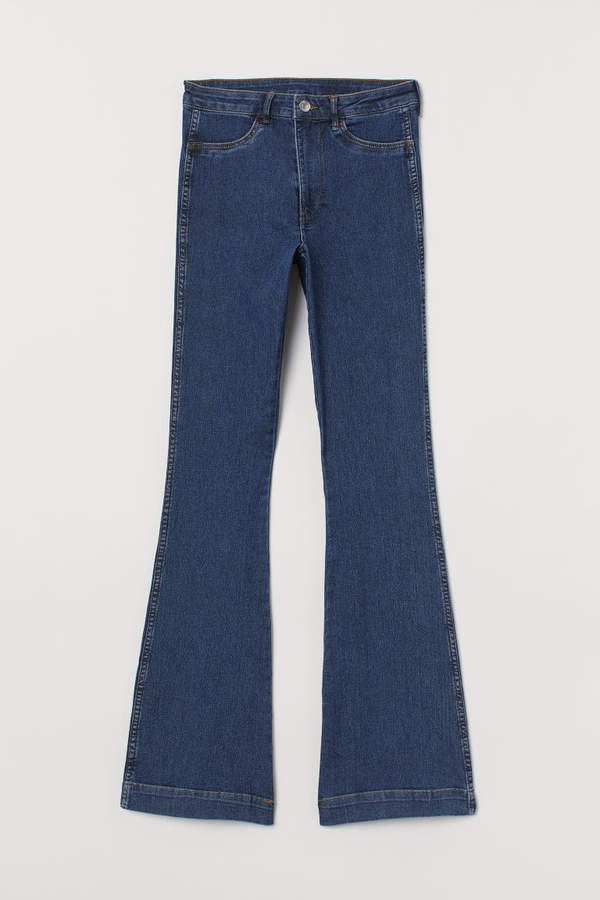 Flared High Jeans - Blue