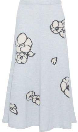 Intarsia Cashmere And Silk-blend Midi Skirt