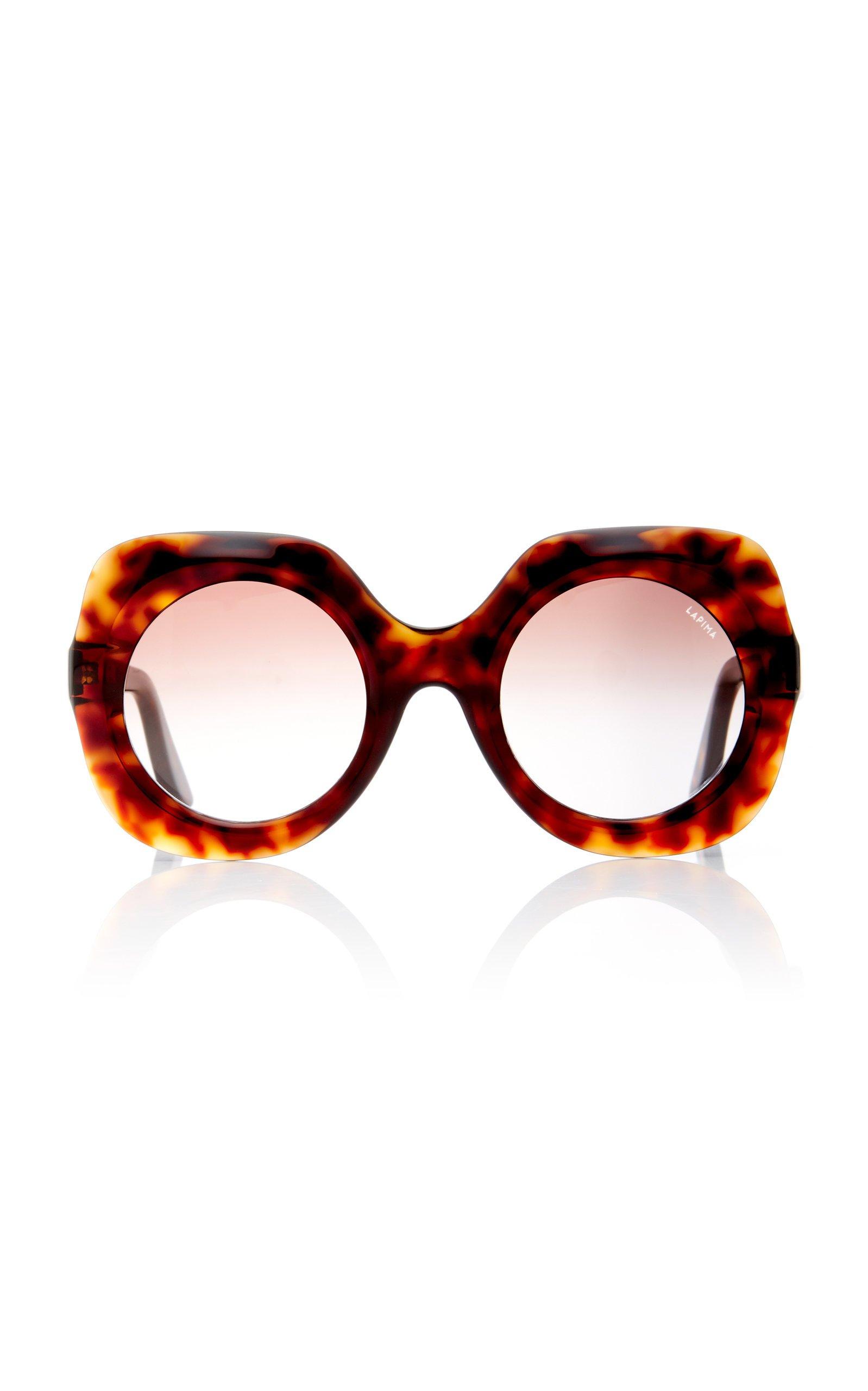 Lapima Paula Round-Frame Acetate Sunglasses