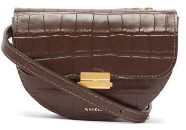 Wandler - Anna Crocodile Effect Leather Belt Bag - Womens - Dark Brown