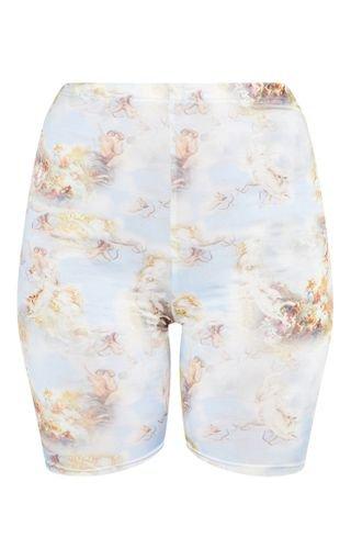 Pale Blue Renaissance Cycle Short | Shorts | PrettyLittleThing