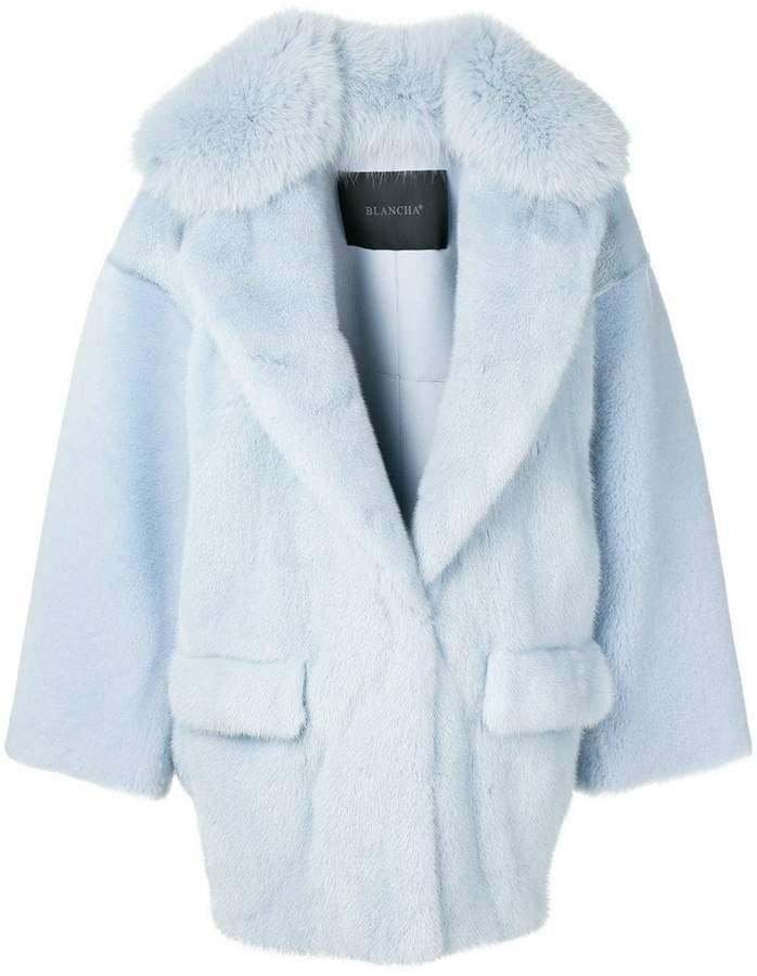 Blancha oversized collar coat