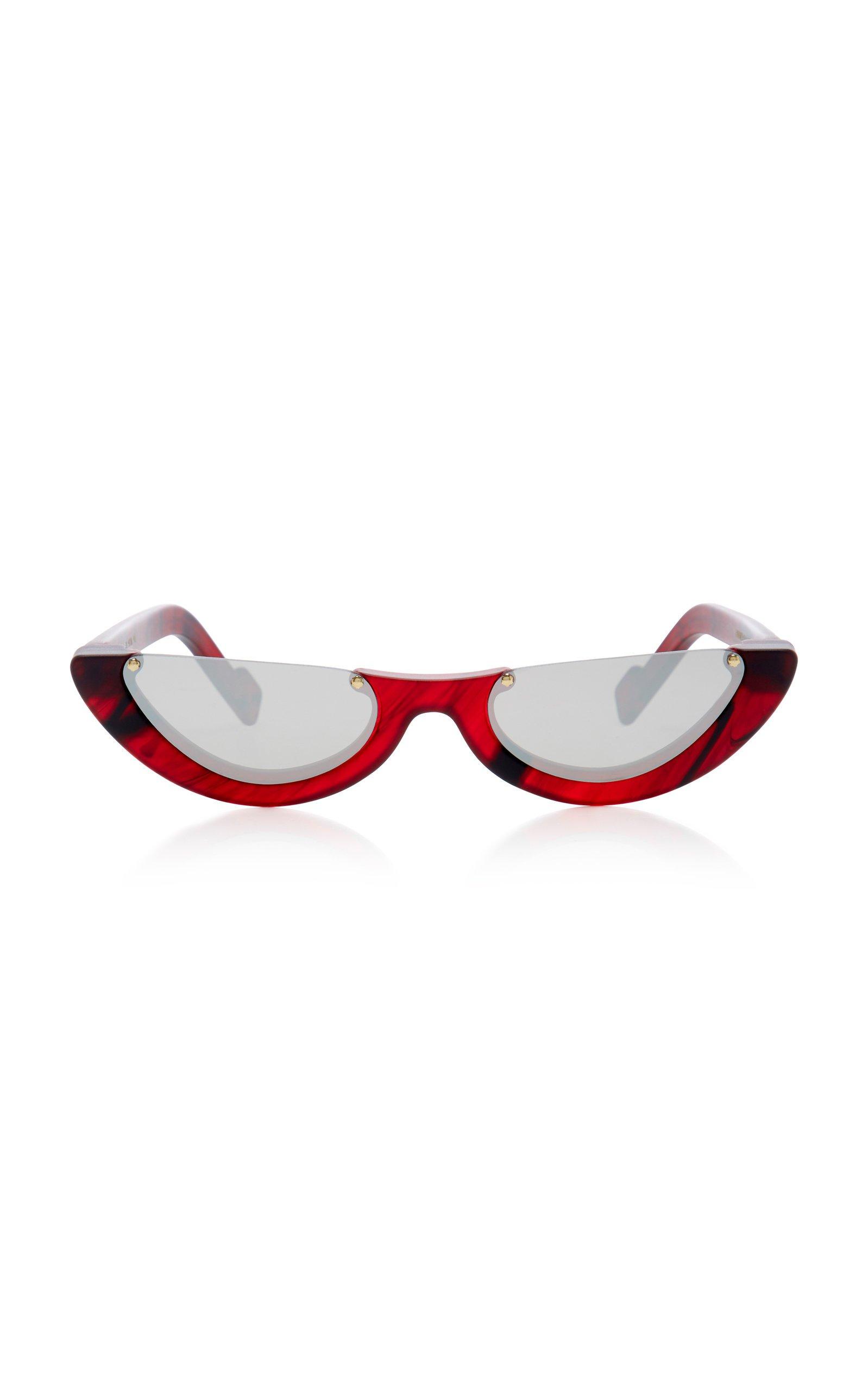 Empat Cat-Eye Acetate Sunglasses by PAWAKA | Moda Operandi