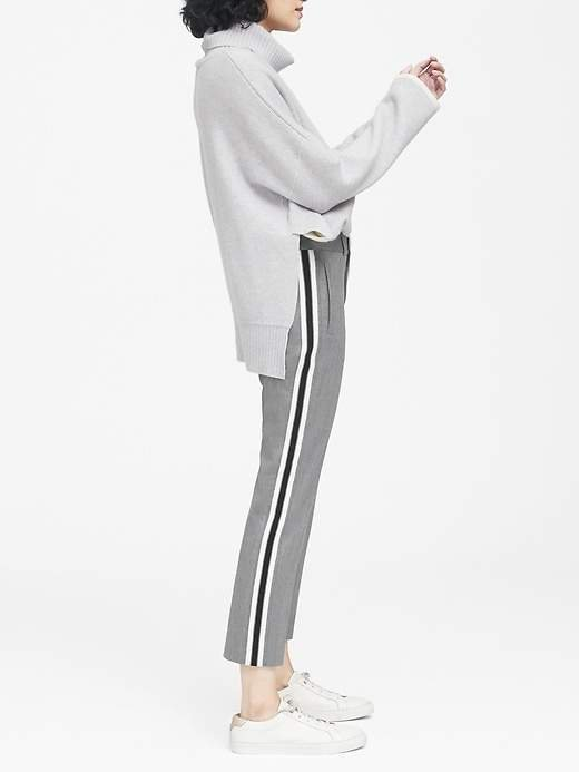 Avery Straight-Fit Side-Stripe Ankle Pant