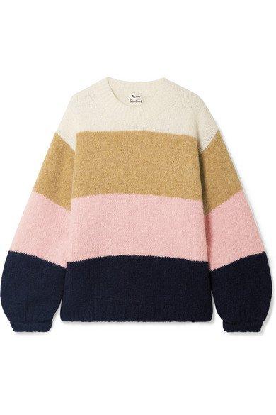 Acne Studios | Kazia oversized striped knitted sweater | NET-A-PORTER.COM