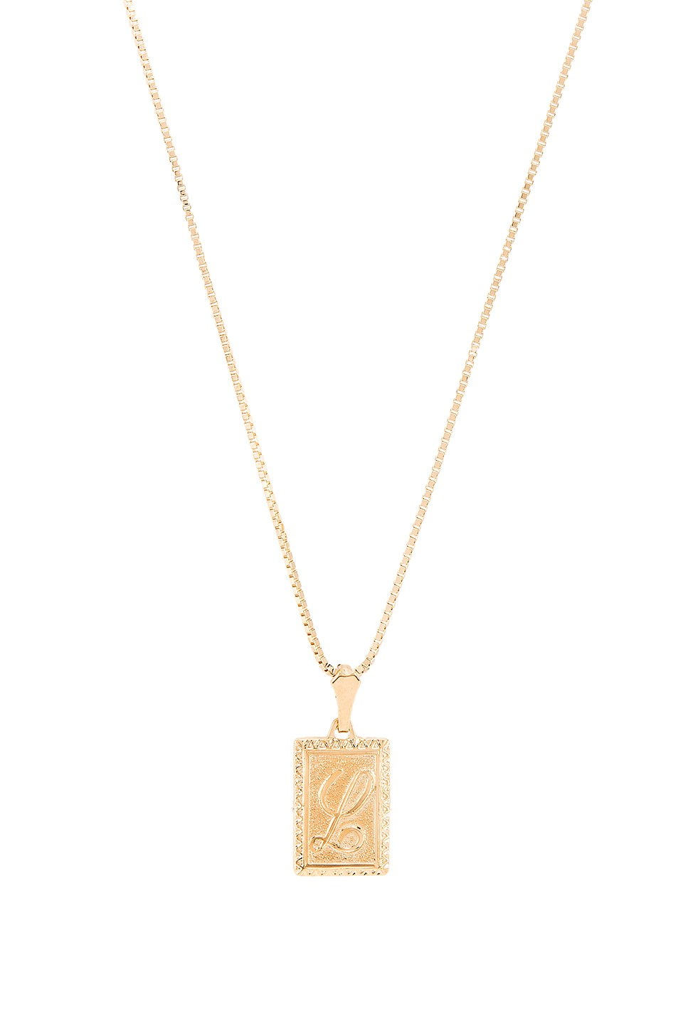 The London L Initial Necklace